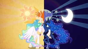 this amazing picture princess celestia and luna
