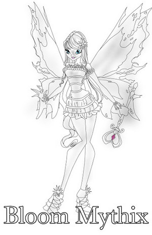 winx club Bloom DRAWING Mythix 2D
