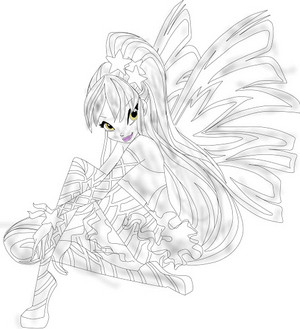 winx club Stella Sirenix Drawing 2D