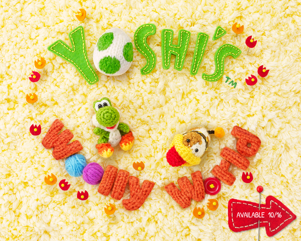 yoshis woolly world wallpaper 02 1280x1024