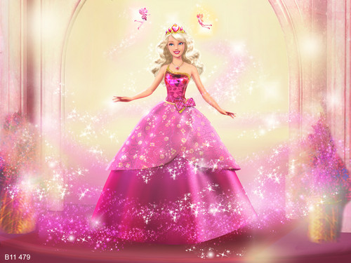 Barbie wallpaper possibly containing a gown, a dinner dress, and a fountain called ♡ ♥ ღBarbie♡ ♥ ღ