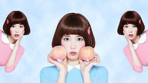 아이유 Desktop Wallpaper 1080x1920 for Isul Tok Tok (peach drink)