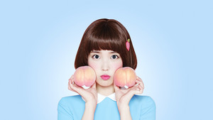 아이유 Desktop پیپر وال 1080x1920 for Isul Tok Tok (peach drink)