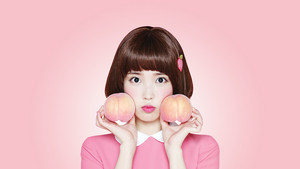 아이유 Desktop Wallpaper 1080x1920 for Isul Tok Tok (peach drink)