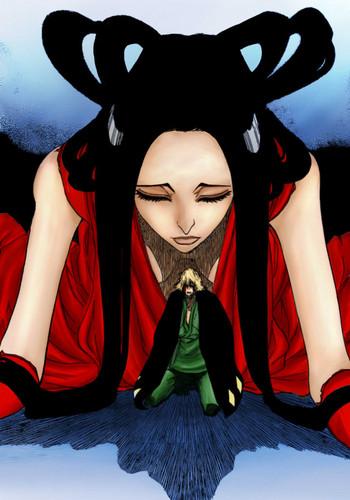 Bleach Anime wallpaper called *Kisuke Urahara Bankai : Kannonbiraki Benihime Aratame *