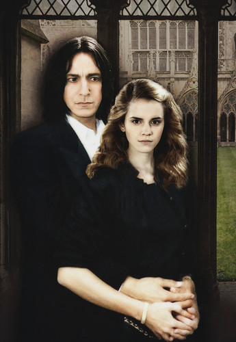 Severus Snape wallpaper probably containing a street titled        severus and hermione
