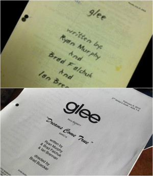 1 YEAR WITHOUT GLEE   FIRST AND LAST SCRIPT