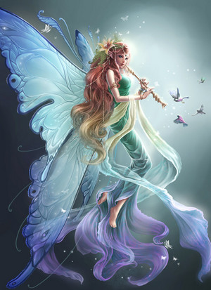 640x880 18445 Fairy 2d fantasy fairy picture image digital a
