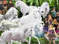 A Group of Sexy Witches are planning to capture Beautiful Wild White Unicorns - unicorns fan art
