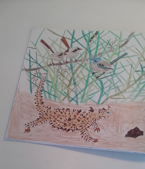 A Thorny Devil And Blue Wrens
