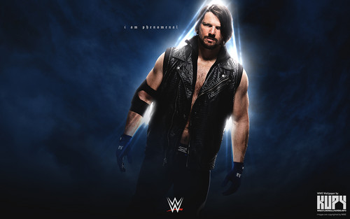美国职业摔跤 壁纸 probably containing a well dressed person, an outerwear, and long trousers called AJ Styles