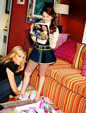 Abigail Breslin and Chelsea Handler - Harper's Bazaar Photoshoot - 2010