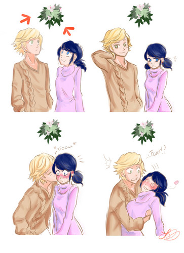 Miraculous Ladybug वॉलपेपर titled Adrien and Marinette