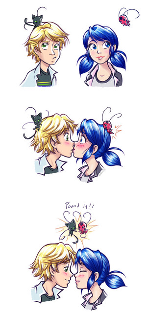 Adrien and Marinette