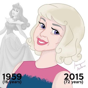 Aurora then and now (at age 72)