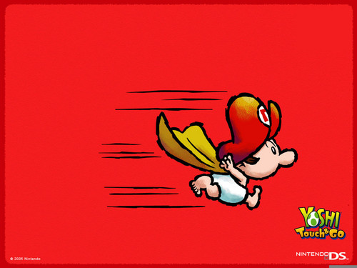 Super Mario Bros wallpaper containing Anime titled Baby Mario