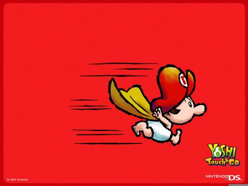 Super Mario Bros wallpaper with Anime called Baby Mario