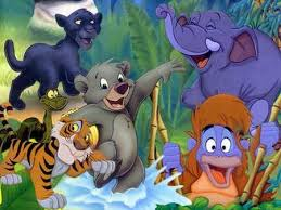 Baloo, Bagheera, Shere Khan, Kaa, Louie, and Hathi