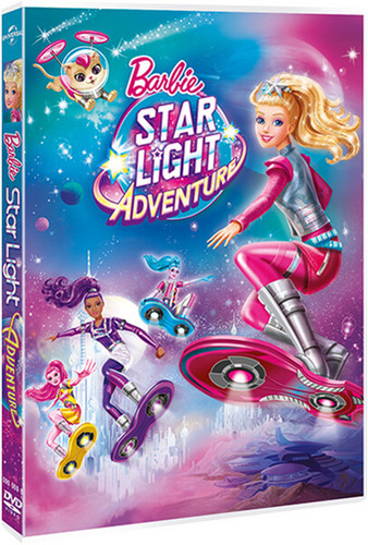 Filem Barbie kertas dinding containing Anime called Barbie bintang Light Adventure Official DVD Cover!