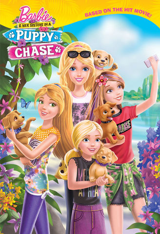 film barbie wallpaper possibly with anime entitled barbie & Her Sisters in a anak anjing, anjing Chase Book