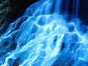 Beautiful blue waterfall