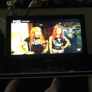 Becky Lynch and Sasha Banks in WWE Raw