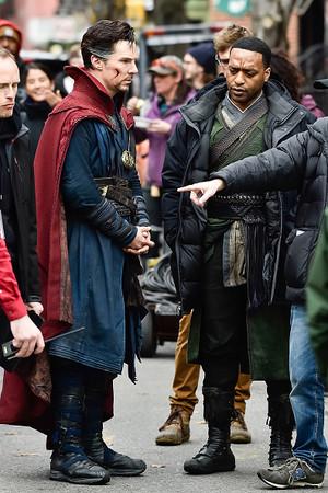 Benedict Cumberbatch in New York City