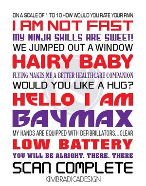 Big Hero 6's BAYMAX citations poster