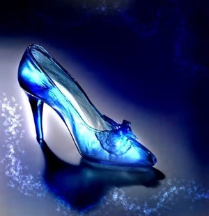 Blue glass slipper