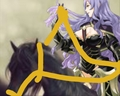 Camilla riding on her new Beautiful Black Pegasus конь
