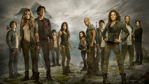 The 100 wallpaper possibly with a fonte entitled Cast of The 100