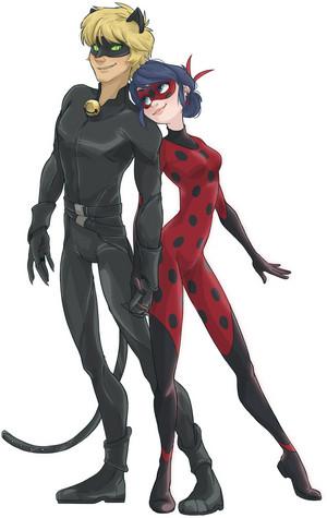Chat Noir and Ladybug