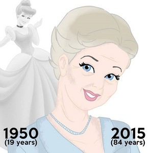 Cinderella then and now (at age 84)