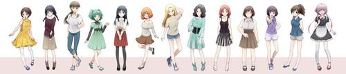 Ansatsu Kyoushitsu پیپر وال titled Class 3-E's girls