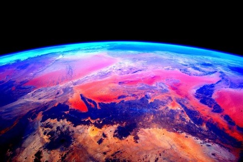 Earth planet वॉलपेपर titled Colorful earth
