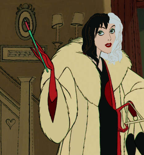 Childhood Animated Movie Villains Hintergrund containing Anime titled Cruella Devil Before She Smoked