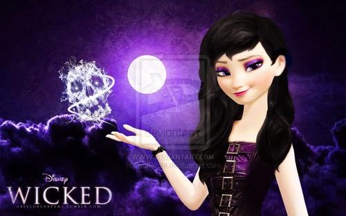 frozen fondo de pantalla entitled Dark Elsa