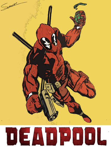 Deadpool (2016) fondo de pantalla containing anime titled Deadpool Tribute