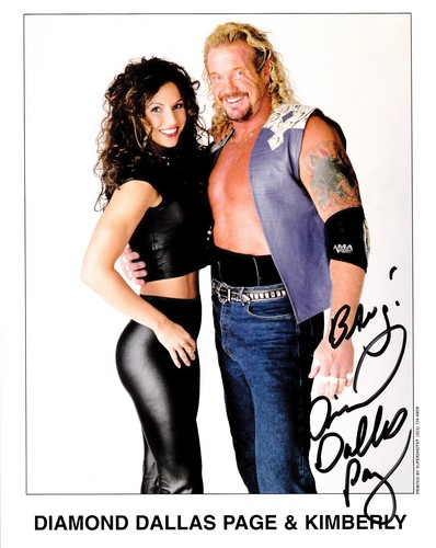 World Championship Wrestling 壁纸 probably containing bare legs, hosiery, and tights entitled Diamond Dallas Page With Kimberly 照片 2