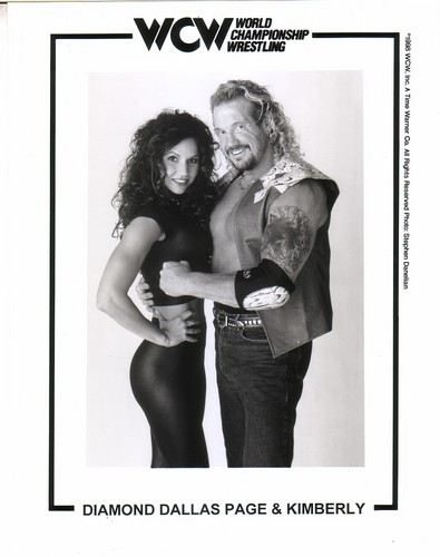 World Championship Wrestling 壁纸 probably containing attractiveness, a lingerie, and a 泳装, 游泳衣 entitled Diamond Dallas Page With Kimberly 照片 3