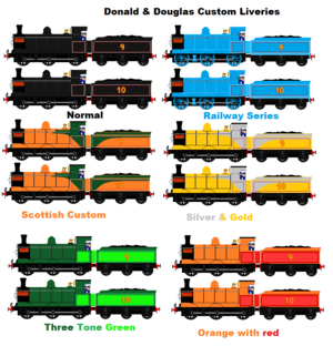 Donald Douglas and their custom liveries