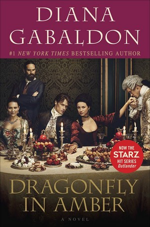 Dragonfly in Amber tie-in book cover edition
