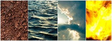 The Four Elements wallpaper probably with a sunset titled Earth, water, air, fuoco