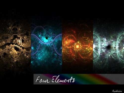 The Four Elements wallpaper titled Earth, water, fire, air