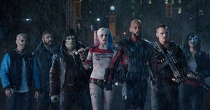 El Diablo, Captain Boomerang, Killer Croc, Harley Quinn, Deadshot, Rick Flag and Katana