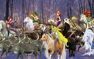 Ember and the other Wolfriders are begin hunting down an Herd of Caribou