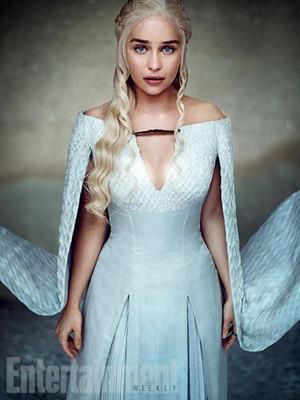Emilia Clarke as Daenerys Targaryen Entertainment Weekly Portrait