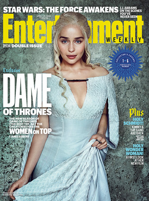 Emilia Clarke as Daenerys Targaryen in Entertainment Weekly Cover