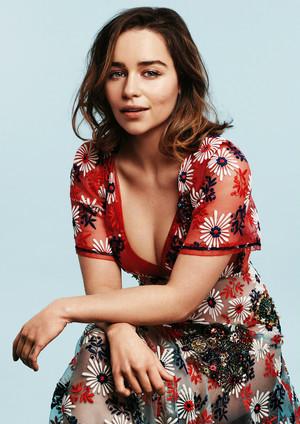 Emilia Clarke in Glamour Photoshot
