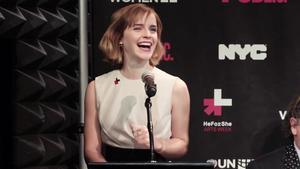 Emma Watson HeforShe Arts Week opening speech screencaps